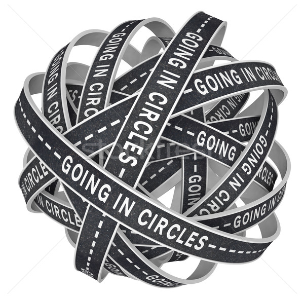 Going in Circles Lost on Endless Roads in Confusion Stock photo © iqoncept