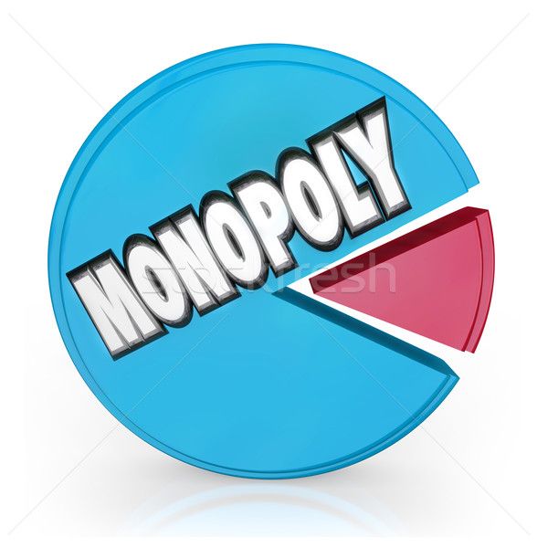 Monopoly Pie Chart Market Leader Unfair Competition Stock photo © iqoncept