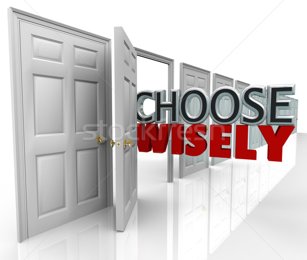 Choose Wisely Many Doors Best Selection  Stock photo © iqoncept
