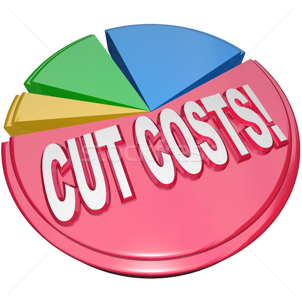 Cut Costs Pie Chart Reduce Overhead Debt Stock photo © iqoncept