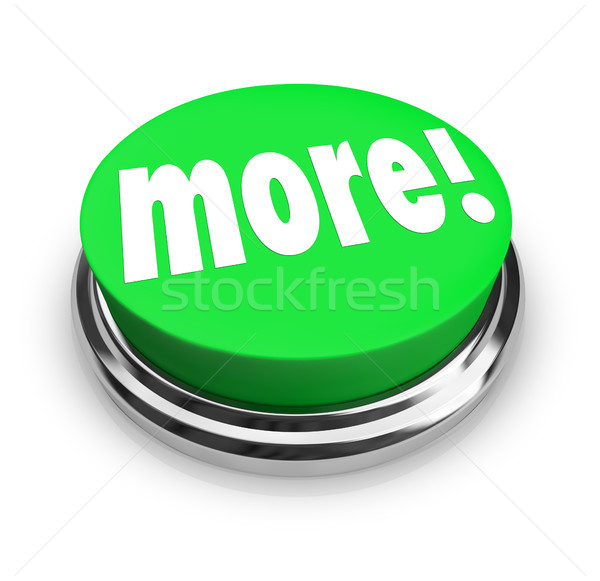 More Word Round Green Button Extra Bonus Value Stock photo © iqoncept