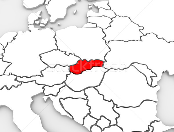 Stock photo: Slovakia Country Abstract 3d Map Europe Continent