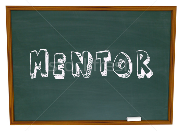 Mentor Word Chalkboard Training School Teacher Learning Stock photo © iqoncept