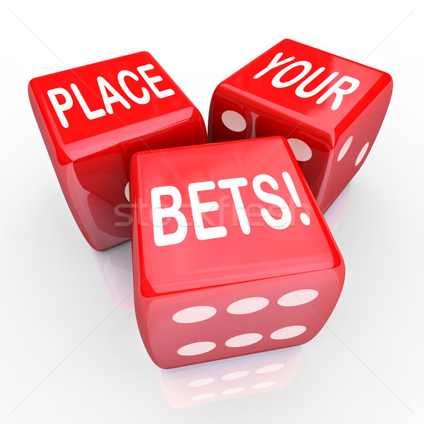 Place Your Bets Dice Gambling Future Opportunity Guess Stock photo © iqoncept
