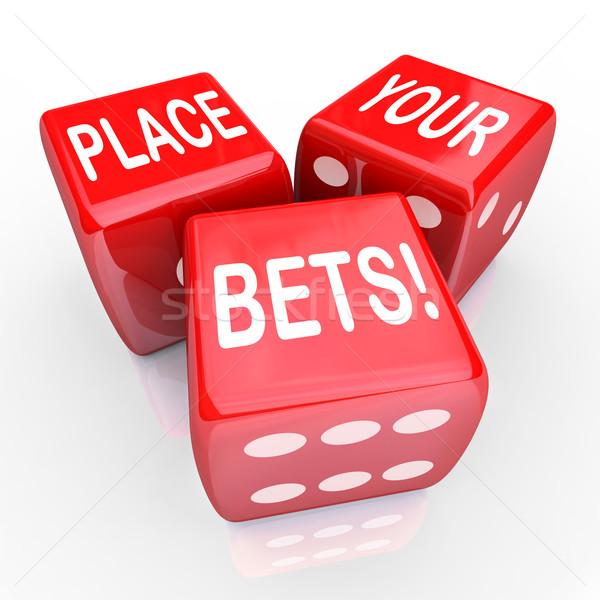 Miejsce kości hazardu przyszłości okazja odgadnąć Zdjęcia stock © iqoncept