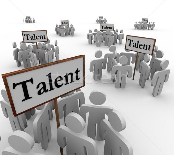 Talent Groups People Job Prospects Candidates Applicants Signs Stock photo © iqoncept