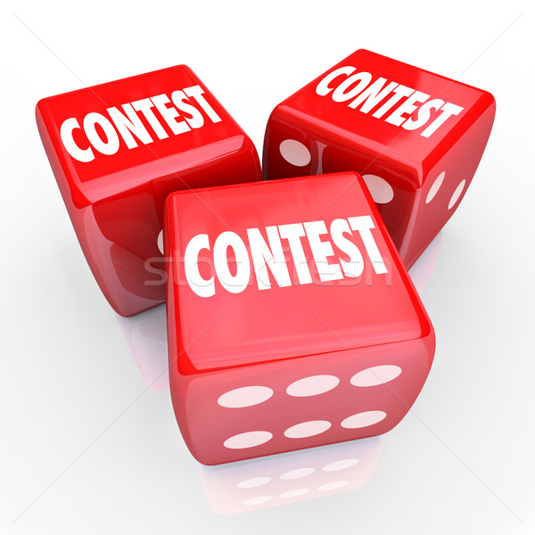 Contest Dice Word Roll Gamble Play to Win Stock photo © iqoncept