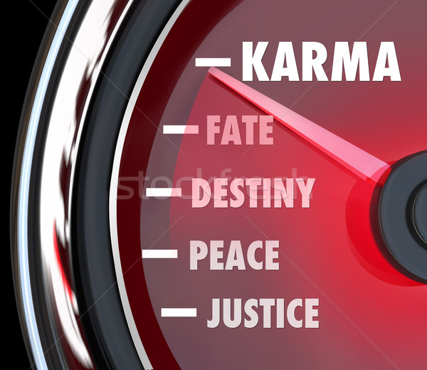 Karma Measurement Speedometer Level Track Your Good Luck Fate De Stock photo © iqoncept