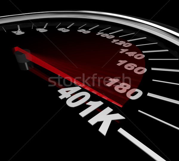 401K - Number on Speedometer Stock photo © iqoncept