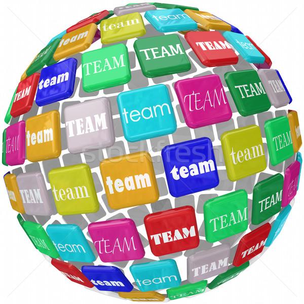 Global Team Word Tiles International Business Group Reach Workin Stock photo © iqoncept