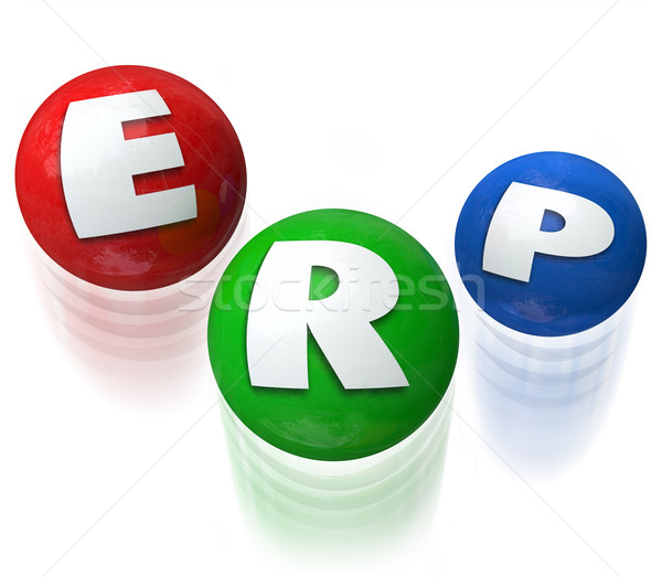 ERP Eneterprise Resource Planning Application Software Stock photo © iqoncept