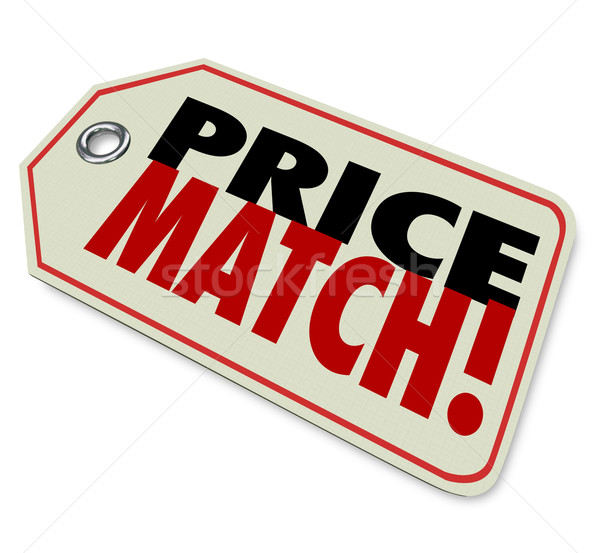 Price Match Low Cost Sale Guarantee Store Selling Merchandise Be Stock photo © iqoncept