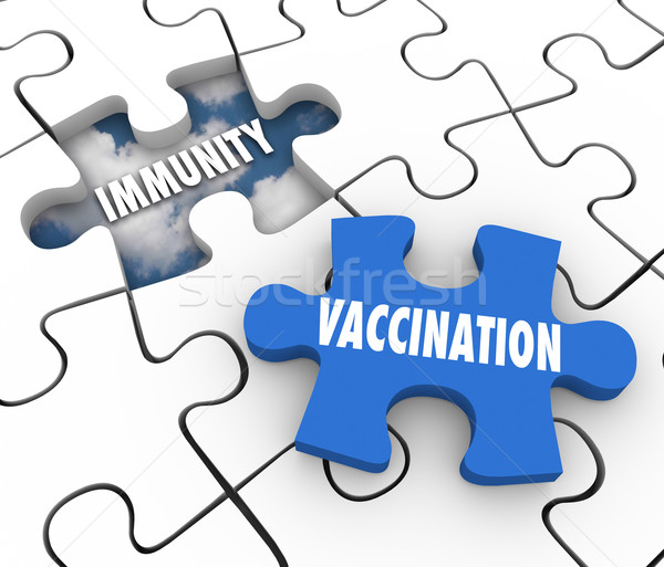 Vaccination Immunity Puzzle Piece Fill Hole Vaccinate Prevent Di Stock photo © iqoncept