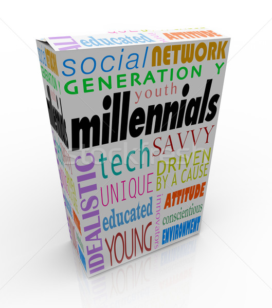 Millennials Product Box Package Youth Generation Y Marketing Stock photo © iqoncept