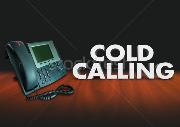 Cold Calling Telephone Solcititation Selling Sales Customers Stock photo © iqoncept