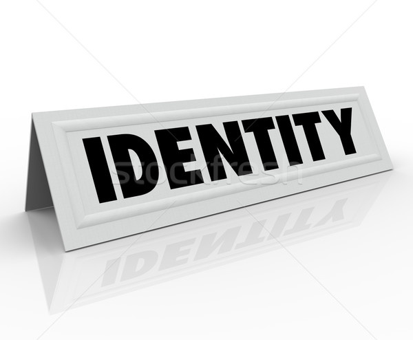 Identity Personal Character Distinctive Name Tent Card Stock photo © iqoncept