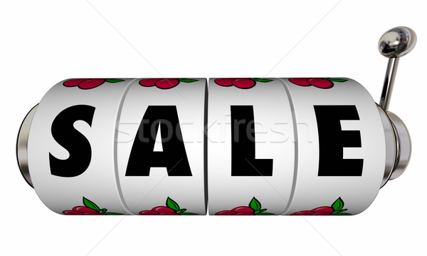 Sale Slot Machine Wheels Dials Money Saving Offer Special Price Stock photo © iqoncept