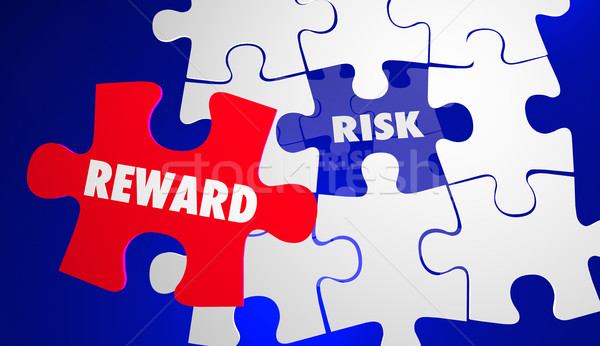 Risk Vs Reward ROI Return Investment Puzzle 3d Illustration Stock photo © iqoncept