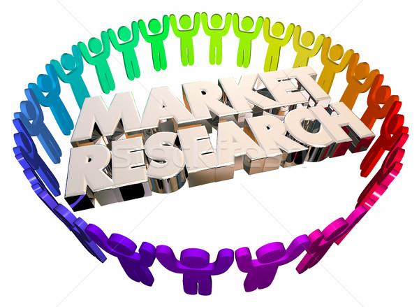 市場 研究 人 研究 調査 ストックフォト © iqoncept