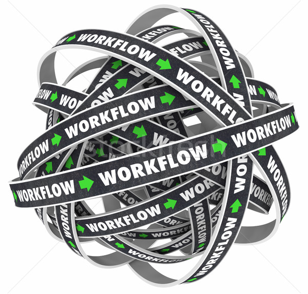 Workflow Process Procedure Loop Instructions 3d Illustration Stock photo © iqoncept