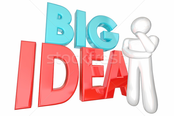 Big Idea Creative Thought Thinker Person Words 3d Illustration Stock photo © iqoncept