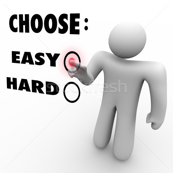 Choose Easy Or Hard - Difficulty Levels Stock photo © iqoncept