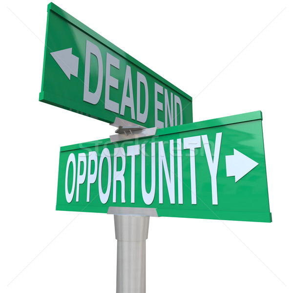 Stock photo: Decision at Turning Point of Dead End or Opportunity