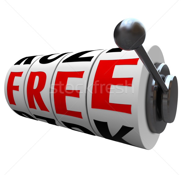 Free Word Slot Machine Wheels No Cost Save Money Stock photo © iqoncept