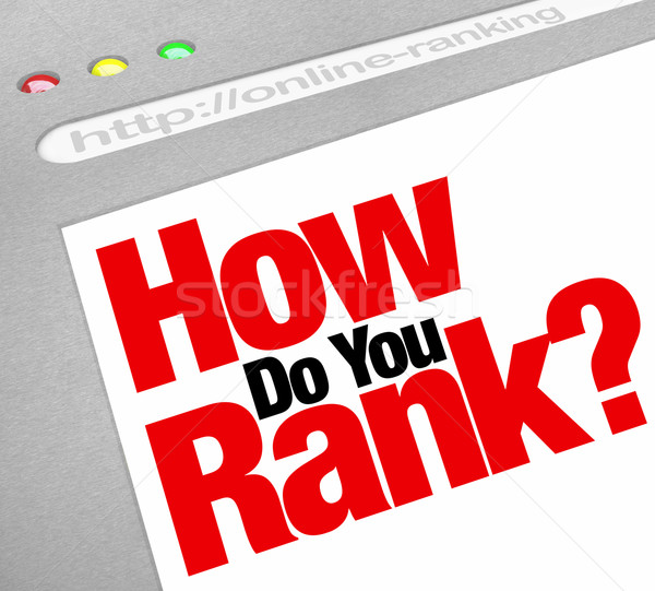 How Do You Rank Website Search Engine Ranking Stock photo © iqoncept