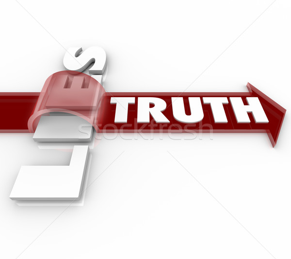 Truth Beats Lies Arrow Over Word Honesty vs Dishonesty Stock photo © iqoncept