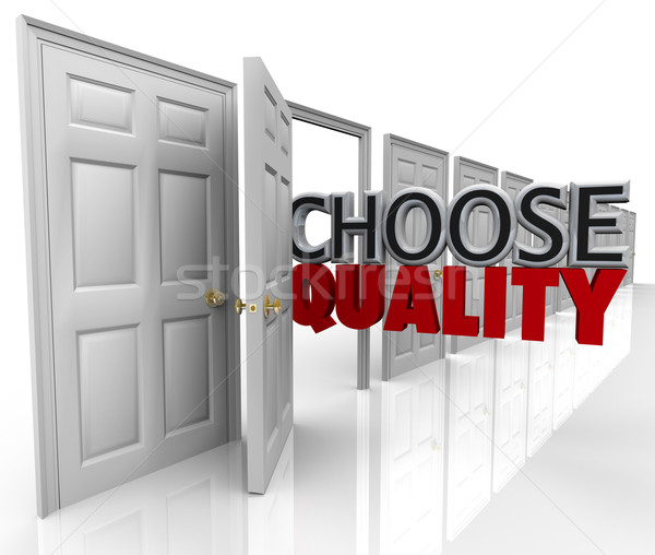 Choose Quality Many Doors Choice Decide Best Option Stock photo © iqoncept