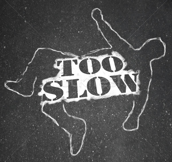 Too Slow Person Victim Chalk Outline Lazy Late Stock photo © iqoncept