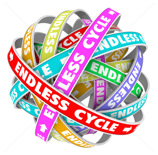 Endless Cycle Pattern in Circles Neverending Cyclical Perpetual  Stock photo © iqoncept
