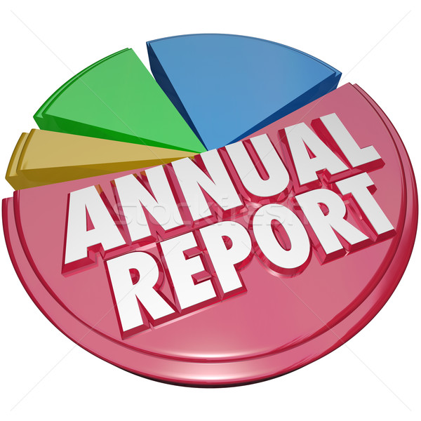 Stock photo: Annual Report Pie Chart Graph Big Revenue Profit Market Share