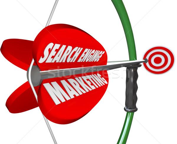 Keresőmotor marketing íj nyíl megcélzott hirdetés Stock fotó © iqoncept