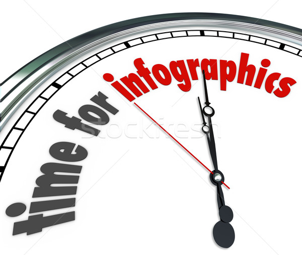 Time for Infographics Clock Presenting Data Information Stock photo © iqoncept