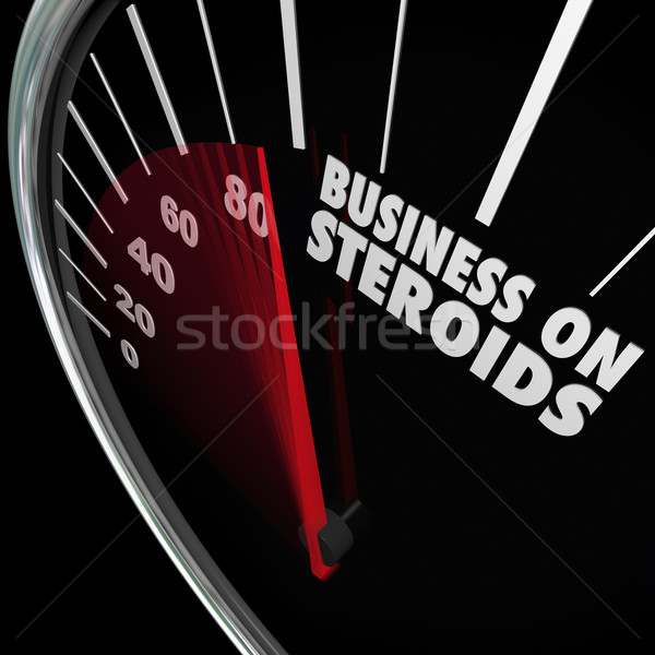 Business on Steroids Increase Growth Improved Results Speedomete Stock photo © iqoncept