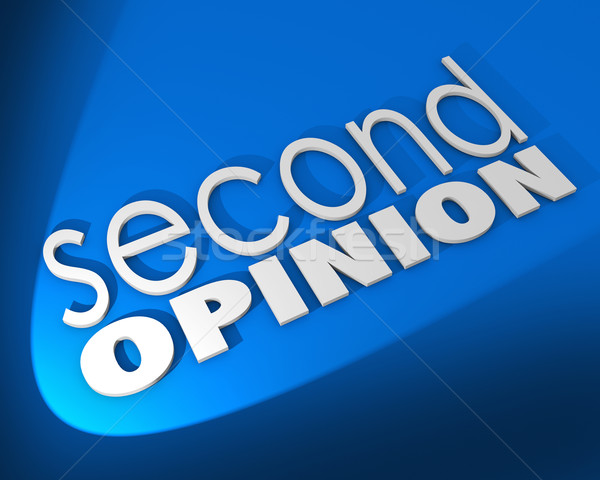 Second Opinion Words Background Different Judgment Verification Stock photo © iqoncept
