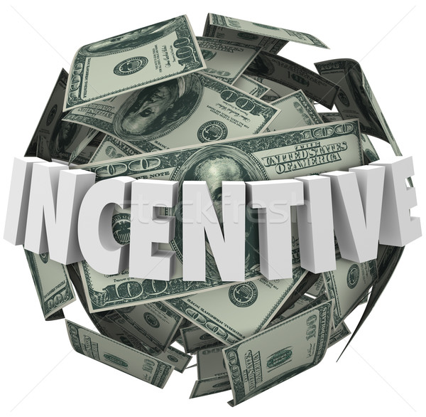 Incentive Word Money Ball Encouragement Buy Sell More Stock photo © iqoncept