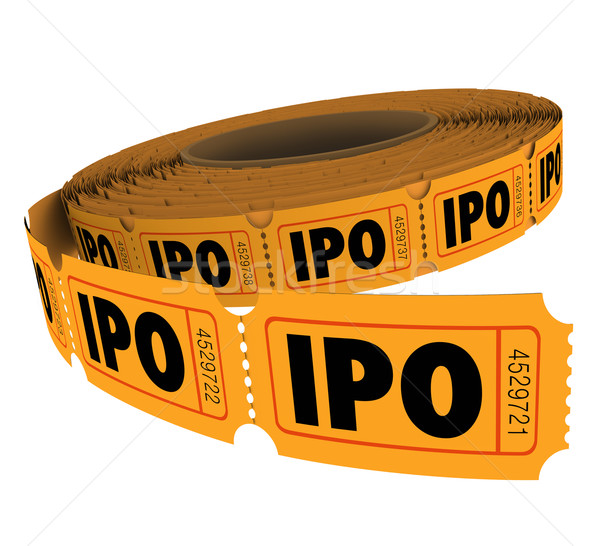 IPO Initial Public Offering Company Business Raffle Ticket Roll Stock photo © iqoncept