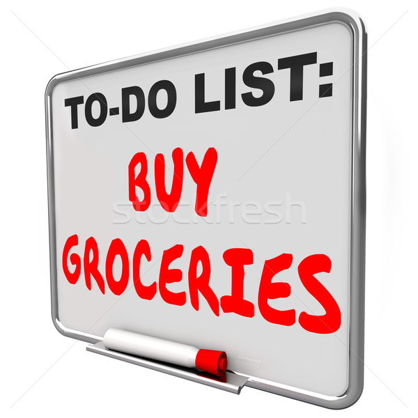 To Do List Buy Groceries Remember Reminder Task Errand Shopping Stock photo © iqoncept