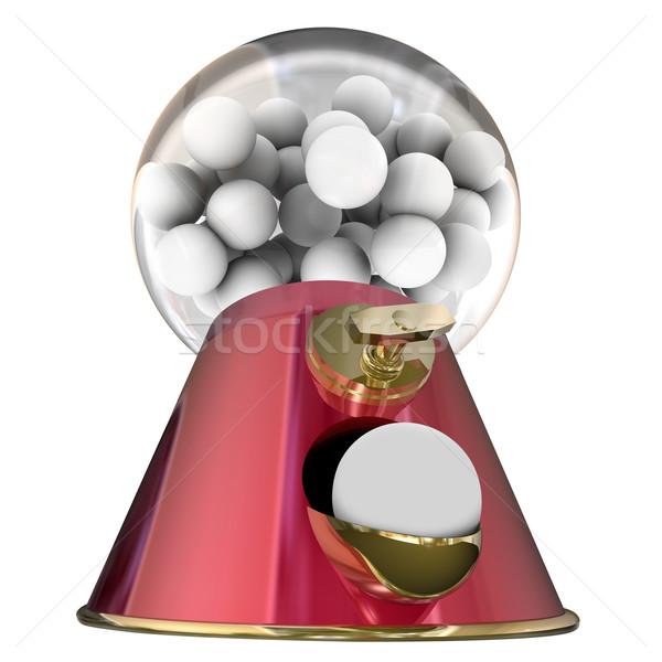 Cukor íny golyók cukorka rágógumi fog Stock fotó © iqoncept
