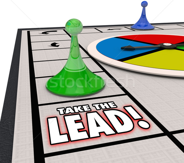 Take the Lead Board Game Competitive Winning Position Stock photo © iqoncept