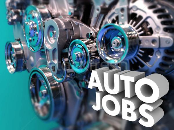 Autó állások karrier mérnöki autó designer Stock fotó © iqoncept