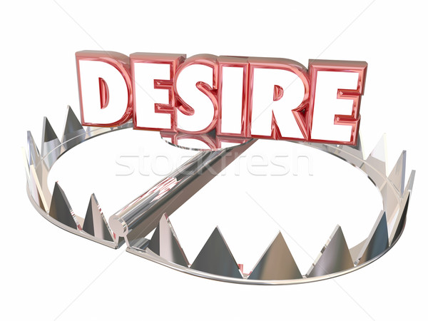 Desire Passion Warning Danger Love Lust Risk Bear Trap 3d Stock photo © iqoncept