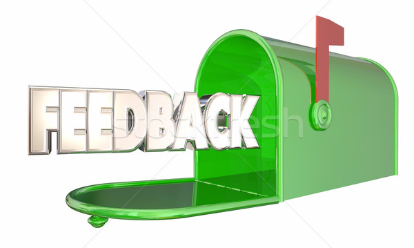 Feedback Message Input Comments Mailbox Word 3d Illustration Stock photo © iqoncept