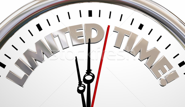 Limited Time Clock Deadline Countdown Words 3d Illustration.jpg Stock photo © iqoncept