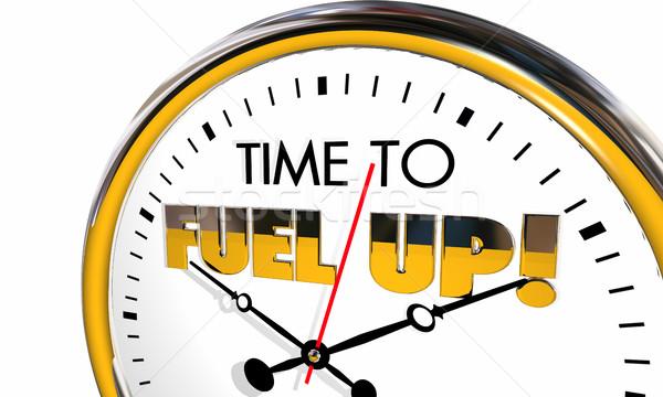 Time to Fuel Up Energize Clock Nutrition Eat 3d Illustration Stock photo © iqoncept