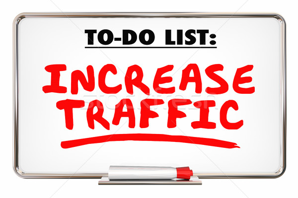 Increase Traffic More Visits Web Internet Store 3d Illustration Stock photo © iqoncept