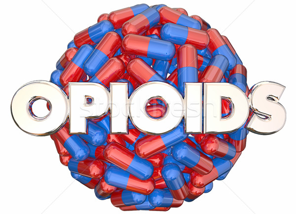 Opioids Prescription Drugs Addiction Danger Pills Capsules 3d Il Stock photo © iqoncept